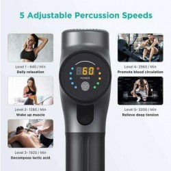 Massage  Deep Tissue Percussion Muscle Massager for Pain Relief Super Quiet