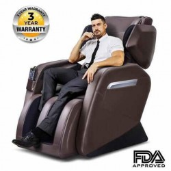OOTORI Full Body Massage Chair/Zero Gravity/Neck, Back, Legs, and Foot Shiatsu Massage Brown
