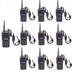 10  Baofeng UV-82 VHF/UHF MHz Dual-Band Ham Walkie Talkies Two-way