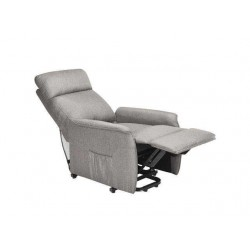 Electric Power Fabric Padded Lift Massage Chair Recliner Sofa-Beige