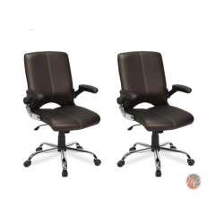 Set of 2 Salon VERSA Stylish Comfortable Office Chair COFFEE Desk Chair Perfect for Office, Conference Room, Reception, Waiting Area