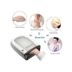 Breo iPalm520s Electric Acupressure Hand Palm Massager with Air Pressure and Heat Compression for Fingers Coldness Strain and Numbness Relief
