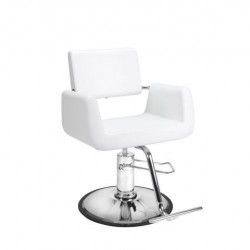Beauty Salon Styling Chair ARON WHITE Salon Furniture and Barber Chairs