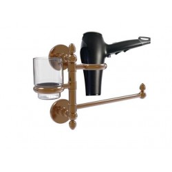Allied Brass P1000-GTBD-1-BBR Prestige Skyline Collection Hair Dryer Holder & Organizer, Brushed Bronze