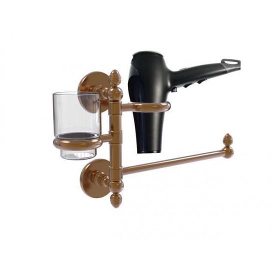 Allied Brass P1000-GTBD-1-BBR Prestige Skyline Collection Hair Dryer Holder & Organizer, Brushed Bronze