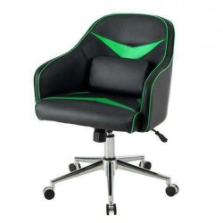 Office Chair Adjustable Height with Massage Lumbar Support-Green