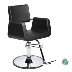 Beauty Salon Styling Chair ARON BLACK (A12) Square Wide Width Styling Chair Beauty Salon Furniture & Equipment