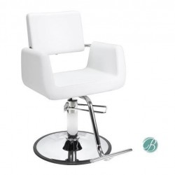 Beauty Salon Styling Chair ARON WHITE (A12) Square Wide Width Styling Chair Beauty Salon Furniture & Equipment