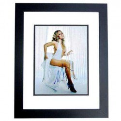 Real Deal Memorabilia MCarey11x14-2BF Sexy Singer Mariah Carey Signed Autographed Photo Frame, Black