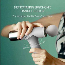 Professional Percussion Massage Gun, Deep Tissue Massager for Athletes - 180 Degrees Rotation Handle, Mini Portable Electric Muscle Massager, Powerful Motor and 3 Modes Helps Relieve Soreness