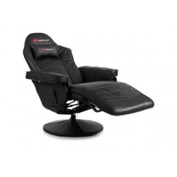 Ergonomic High Back Massage Gaming Chair with Pillow-Black