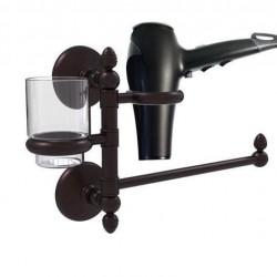 Allied Brass MC-GTBD-1-ABZ Monte Carlo Collection Hair Dryer Holder & Organizer, Antique Bronze