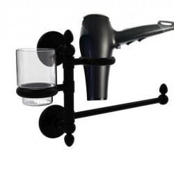 Allied Brass P1000-GTBD-1-BKM Prestige Skyline Collection Hair Dryer Holder & Organizer, Matte Black