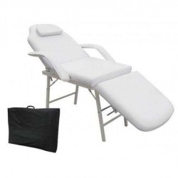 OnlineGymShop CB15207 73 in. Massage Table Chair Portable Tattoo Parlor Spa Salon Facial Bed, White