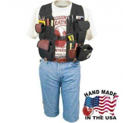 2535 Leather Builders Vest Compact Tool Carrying System