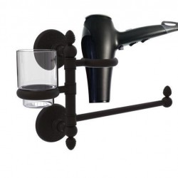 Allied Brass MC-GTBD-1-ORB Monte Carlo Collection Hair Dryer Holder & Organizer, Oil Rubbed Bronze