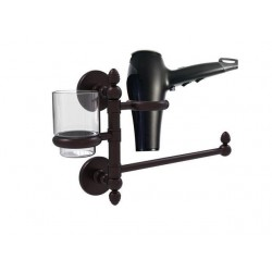 Allied Brass P1000-GTBD-1-ABZ Prestige Skyline Collection Hair Dryer Holder & Organizer, Antique Bronze