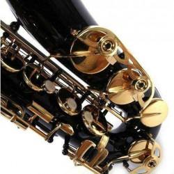 New Brass Eb Alto Saxophone Black Sax w/ Other Accessories