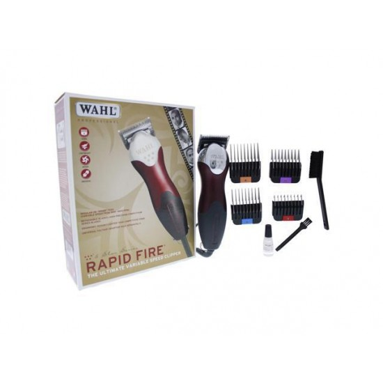 Wahl Professional 5 Star Rapid Fire - Model # 8233-200 - Red By Wahl Professional For Unisex - 1 Pc Kit Clipper  1 Pc Ki