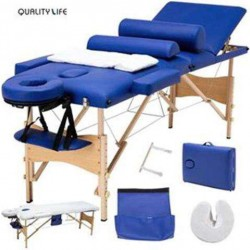 OnlineGymShop CB19877 84 in. Massage Table Portable Facial Bed - Blue