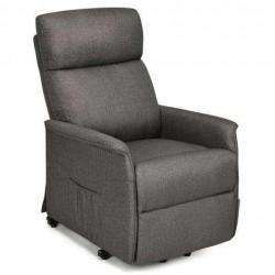 Electric Fabric Padded Power Lift Massage Chair Recliner Sofa-Gray