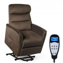 Power Lift Electric Massage Recliner Chair Vibrating Sofa Remote Control Fabric