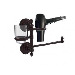 Allied Brass QN-GTBD-1-ABZ Que New Collection Hair Dryer Holder & Organizer, Antique Bronze