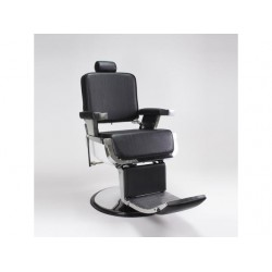 JAXSON Heavy Duty Barber Chair BLACK Reclining, Hydraulic Barber Chair Ideal for Barber Shop, Hair Salon
