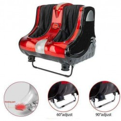 Shiatsu Kneading Rolling Vibron Therapy Foot Calf Ankle Leg Massager Red New