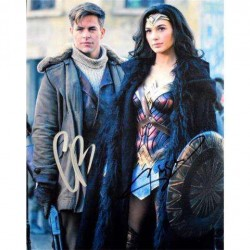 Real Deal Memorabilia WWCast8x10-1 8 x 10 in. Gal Gadot and Chris Pine Autographed Wonder Woman Photo