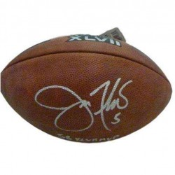 Denver Autographs 10051 SB XLVII with MVP Inscritpion & PSA Joe Flacco Autographed Football