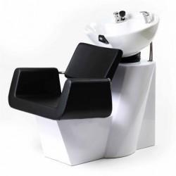 Backwash Shampoo Unit ARON WHITE w/ Shampoo Bowl, Sink & Faucet for Beauty Salo