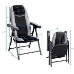 Adjustable Folding Shiatsu Massage Chair with USB Port
