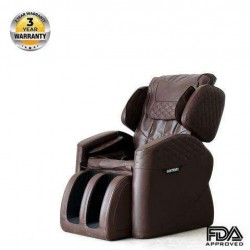 OOTORI Massage Chair Full Body Recliner Zero Gravity Shiatsu Luxurious Electric Massage Chair Foot Rolling and Built in Heat with Bluetooth Speaker Brown