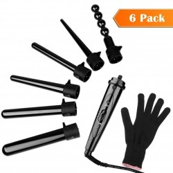 6 in 1 Curling Iron of Hair Kit Professional With 6 Curlers Ceramic Tourmaline