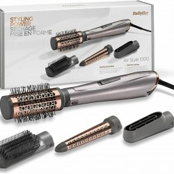 BaByliss AS136E Brush Of Air 1000W, Ionic 4 Accessories Head Pre-secado