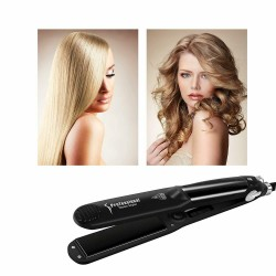 2 in1 Iron Hair With Steam HQQNUO Ceramic And Tourmaline Straightening Of Hair